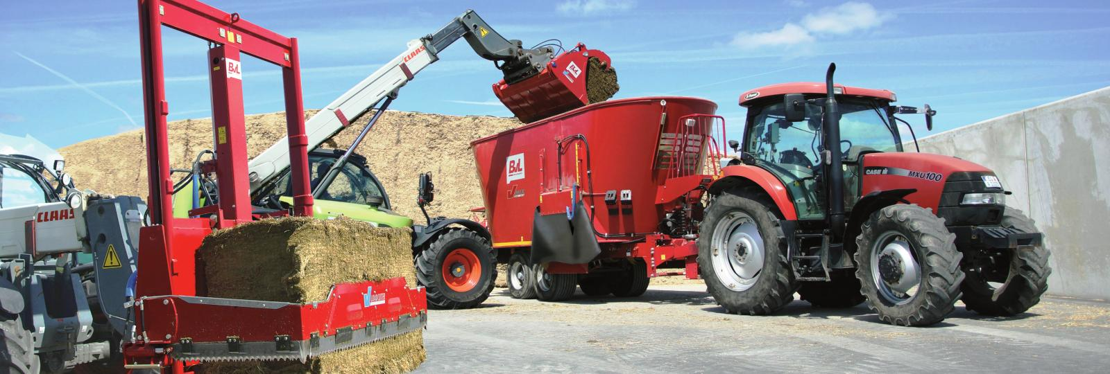 Enhance feed with mixer wagons, beddings implements or shear grabs from BvL.
