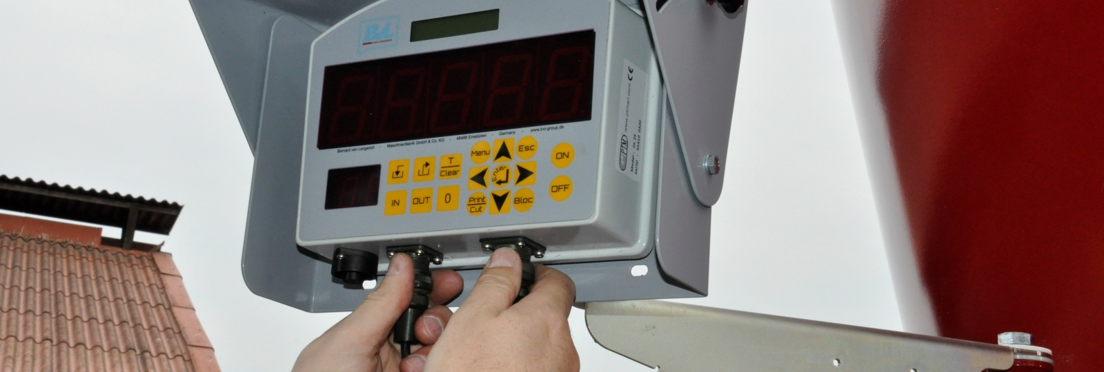 The weighing system at the feed mixer