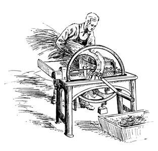 Production of the first chopping machines.