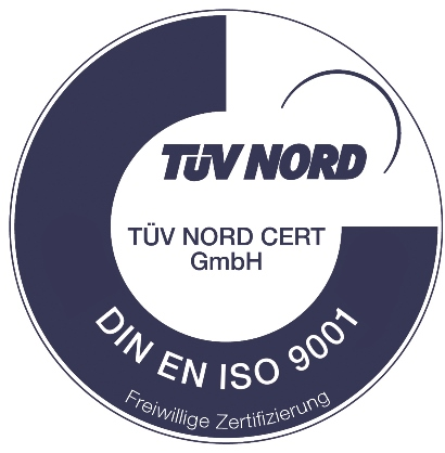 Introduction of the quality management system according to DIN ISO 9001.