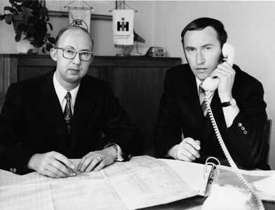 The 4th generation: Waltraud Sievering, born van Lengerich (not shown here), Otto van Lengerich and Dipl. Ing. Wilhelm van Lengerich (from left) take over the parental company.
